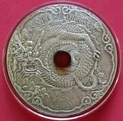 Togo 2012 1500 Francs Year Of The Dragon 2 Oz Silver Antique Coin W/amber