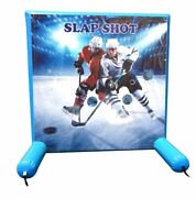 Commercial Inflatable Games - Hockey Slap Shot - Air Frame Game With Pump And Bag