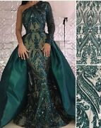 Arabic One Shoulder Green Mermaid Evening Dress Delivery In About 25 Days
