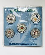 Disney Wdw 2009 Character Coin Pin Set - Monorail Donald Chip And Dale Kermit