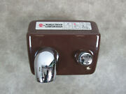 World Dryer Corporation A-51 Commercial Hand Dryer Fixed Brown Enamel Restroom