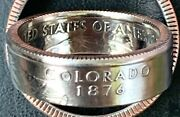 1999-2009 Us State Qtr Coin Ringsize 5-14you Pick State/size.handmade.free Sandh