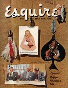 1949 Esquire March - Big Fishing Issue Cockfighting Bowling, Valerie Bettis