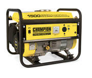 Champion 1500-w Quiet Portable Gas Powered Generator Lightweight Home Rv Camping
