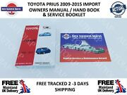 Toyota Prius Import 2009-2015 Owners Handbook / Manual And Service Booklet