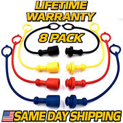 8 Pack Hydraulic Cap And Plug 3/8 Replaces John Deere 400x 410 419 420 430 440