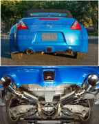 For 09-up Nissan 370z Z34 | Stainless Steel Axle Back 4.5 Inch Dual Tips Exhaust