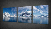 Paradise Bay Lake Set Of 3 Canvas Picture Print Wall Art Free Fast Delivery
