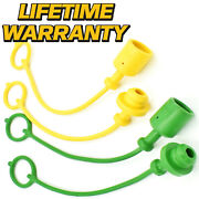 4 Pack Hydraulic Cap And Plug Replaces 3/8 John Deere 46 47 48 370b 375 375a