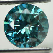 Loose Round Shaped Diamond Fancy Blue Color 1.75 Carat Si2 Natural Enhanced