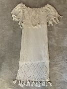 Fillyboo Maternity Off The Shoulder Crochet Dress Size S Color Off White