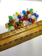 Huge Early Vintage 3 Frank Hess Miriam Haskell Brass Glass Dangle Brooch Pin