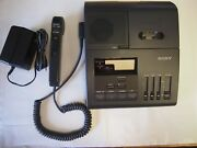 Sony Bm850 Microcassette Dictation Recorder With Ac Adapter And Hu80 Microphone