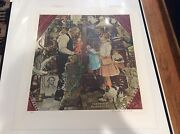 Norman Rockwell April Fool Little Girl And Doll Hand Signed A/p