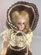 9 Antique French Or German Bisque Head Belton Flapper Doll Adorable 18091