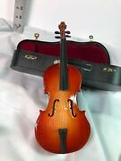 Miniature Collectible Violin With Wind-up Music And Case - Used