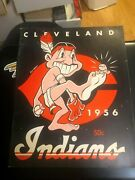 1956 Cleveland Indians Official Yearbook Mlb Baseball Good Shape Rare