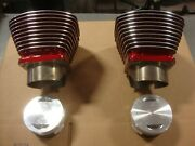American Ironhorse 124 Sands Cylinders W/ Pistons .10 Over Candy Red 4 1/8 Bore
