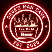 Custom Cold Beer Led Sign Personalized, Home Bar, Pub Sign, Lighted ,man Cave