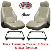 Standard Touring Ii Fully Assembled Seats And Brackets 1971-72 Camaro - Any Color