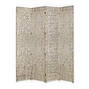Homeroots Decor Sterling 4 Panel Screen With Silver Metallic Finish