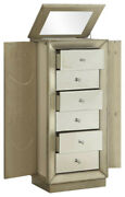 18 X 12 X 38 Antique Gold Jewelry Armoire