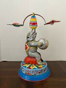 Vintage Germany Us Zone Tin Litho Toy Elephant Excellent Condition Works