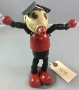 """7"""" Antique American Composition Walt Disney Pointy Nose Mickey Mouse Doll Rare"""
