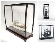 Tabletop Display Case 40 For Collectible Tall Ship Models Wood And Plexiglass New