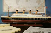 Titanic Display Model 32 Wood Cruise Ship Ocean Liner Collectible Decor Gift