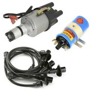 Vw Bug Ignition Kit W/empi 9441 Electronic 009 Dist, Bosch Coil, Black Wires