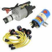 Vw Bug Ignition Kit W/empi 9441 Electronic 009 Dist, Bosch Coil, Yellow Wires