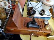 Vintage Antique Kellogg Hand Crank Wall Telephone Phone Wood Case Good Condition