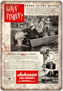 Johnson Sea Horse Outboard Motor Fishing Boat 10 X 7 Reproduction Metal Sign