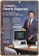 Tandy 1000 Home Computer Radio Shack Ad 10 X 7 Reproduction Metal Sign D95