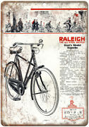 Raleigh Gents Model Superbe Vintage Bike Ad 10 X 7 Reproduction Metal Sign B20