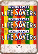 Life Savers Five Flavor Wrapper Ad 10 X 7 Reproduction Metal Sign N419