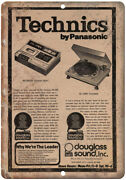 Technics Turntable By Panasonic Vintage Ad 10 X 7 Reproduction Metal Sign D108