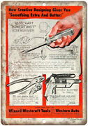Wizard Westcraft Tools Western Auto Ad 10 X 7 Reproduction Metal Sign Z22