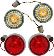 Custom Dynamics Probeam Bullet Red + Smoke Lens Front And Rear 1157 Turn Signal