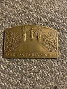1956 Medallic Art American Dahlia Society Gold Plated Bronze Award Plaque Medal