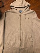 Polo By Mens Jacket Zip With Hood Size Xl Metal Tip Strings