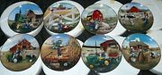 Complete Set Of 8 Danbury Mint Collector Plates Little Farmhands By Donald Zolan