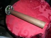 Awesome Vintage Brass Fluted Two Wheel Kaleidoscope Glass,stones ,crystals Old