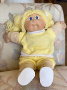 Vintage Cabbage Patch Doll With Two Outfits And Diaper. All Original Single Owner