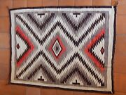 Antique Classic Navajo Native American Rug 80x58 Heavy Wool Hand Woven C. 1910