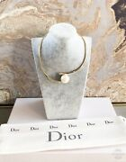 Christian Dior Pearl Gold Choker Necklace