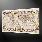 Map Of The World Canvas Wall Art Pictures Prints Variety Of Sizes Free Uk Pandp