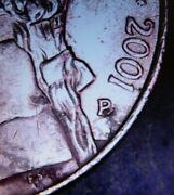 Error Coin 2001 Nickle P Over D Mint Mark ----- Free Shipping