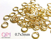 Wholesale Gold Filled Open Jump Rings 21 Gauge 0.7x3mm Jewelry Supply Findings